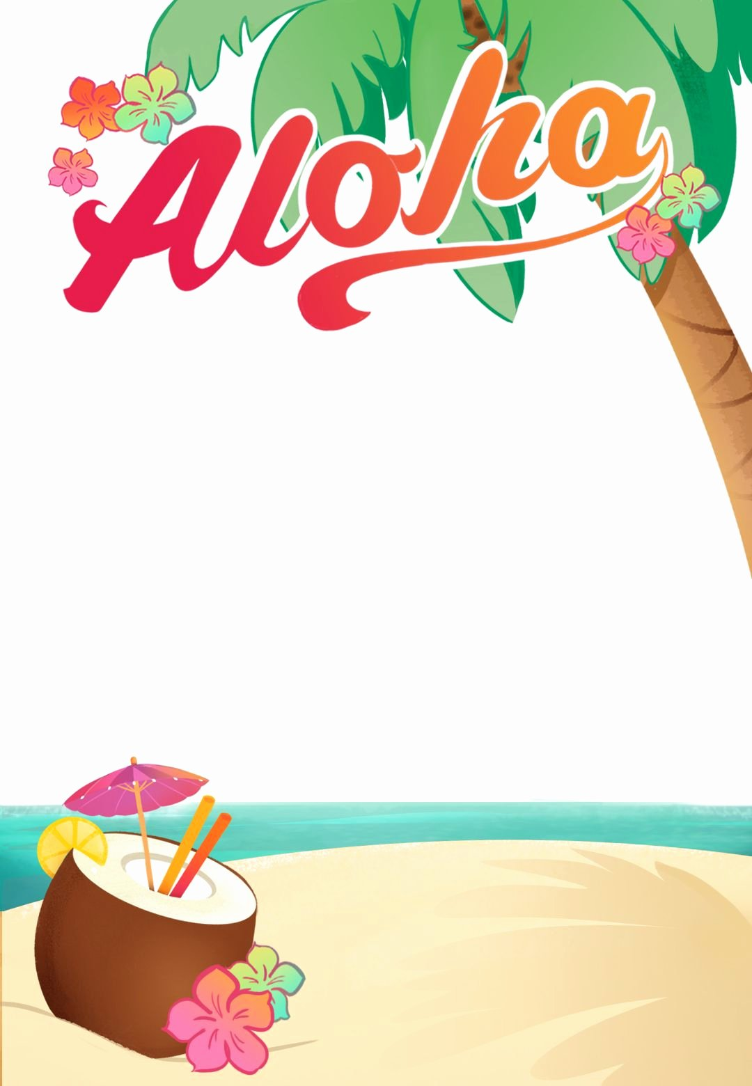 Luau Party Free Printable Summer Party Invitation