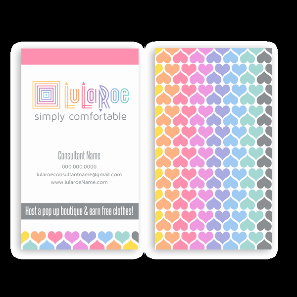 Lularoe Business Card Vertical Heart Pattern • Itw Visions