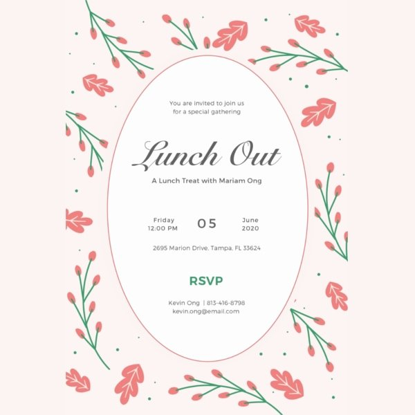 Lunch Invitation Template 34 Free Psd Pdf Documents