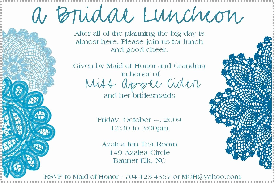 Luncheon Invitations Template