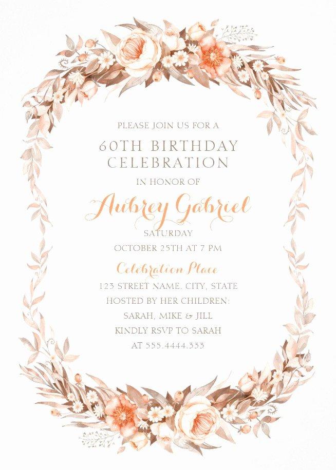 Luxury 60th Birthday Invitations Archives Superdazzle