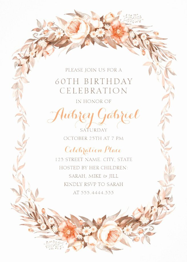 Luxury 60th Birthday Invitations Archives Superdazzle