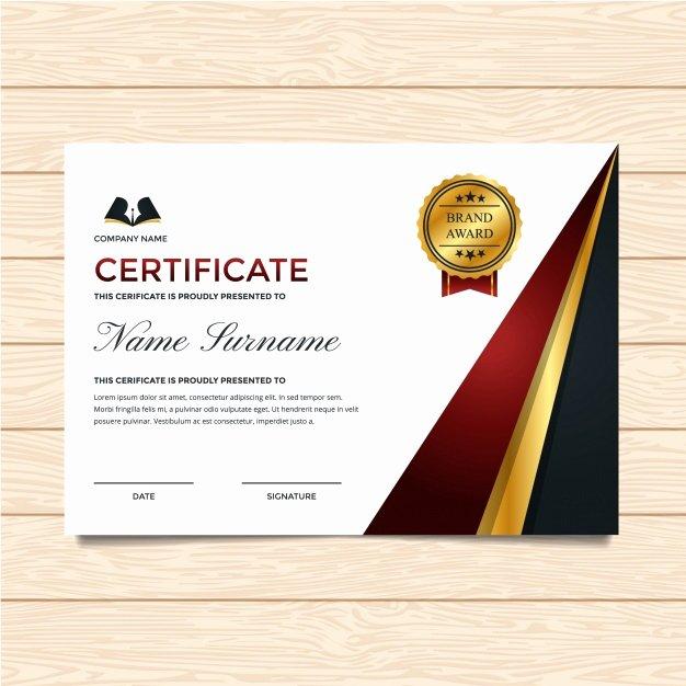 Luxury Certificate Template Vector