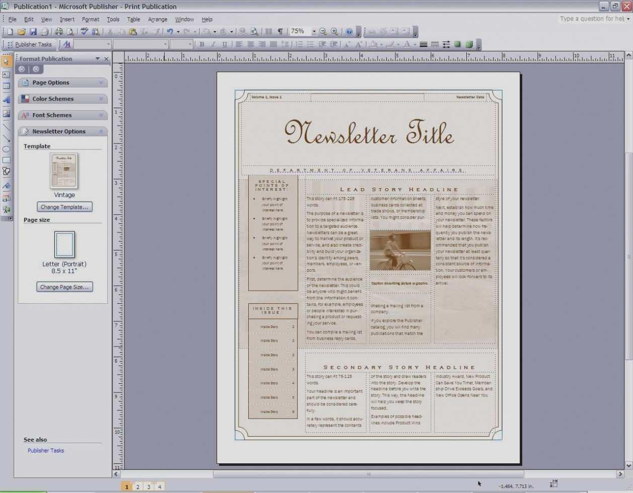 Luxury Free Church Bulletin Templates Microsoft Publisher