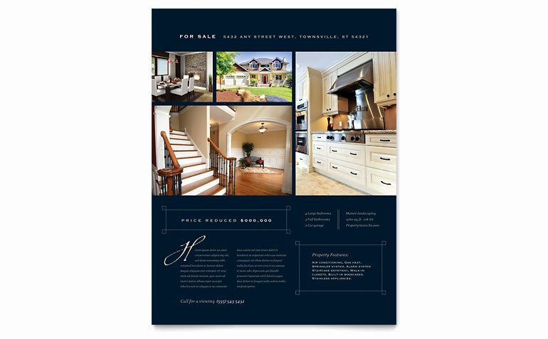 Luxury Home Real Estate Flyer Template Word & Publisher