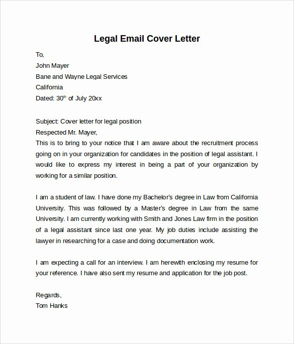 Luxury Legal Secretary Cover Letter