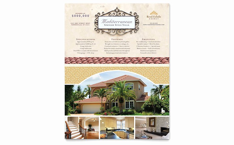 Luxury Real Estate Flyer Templates RE D