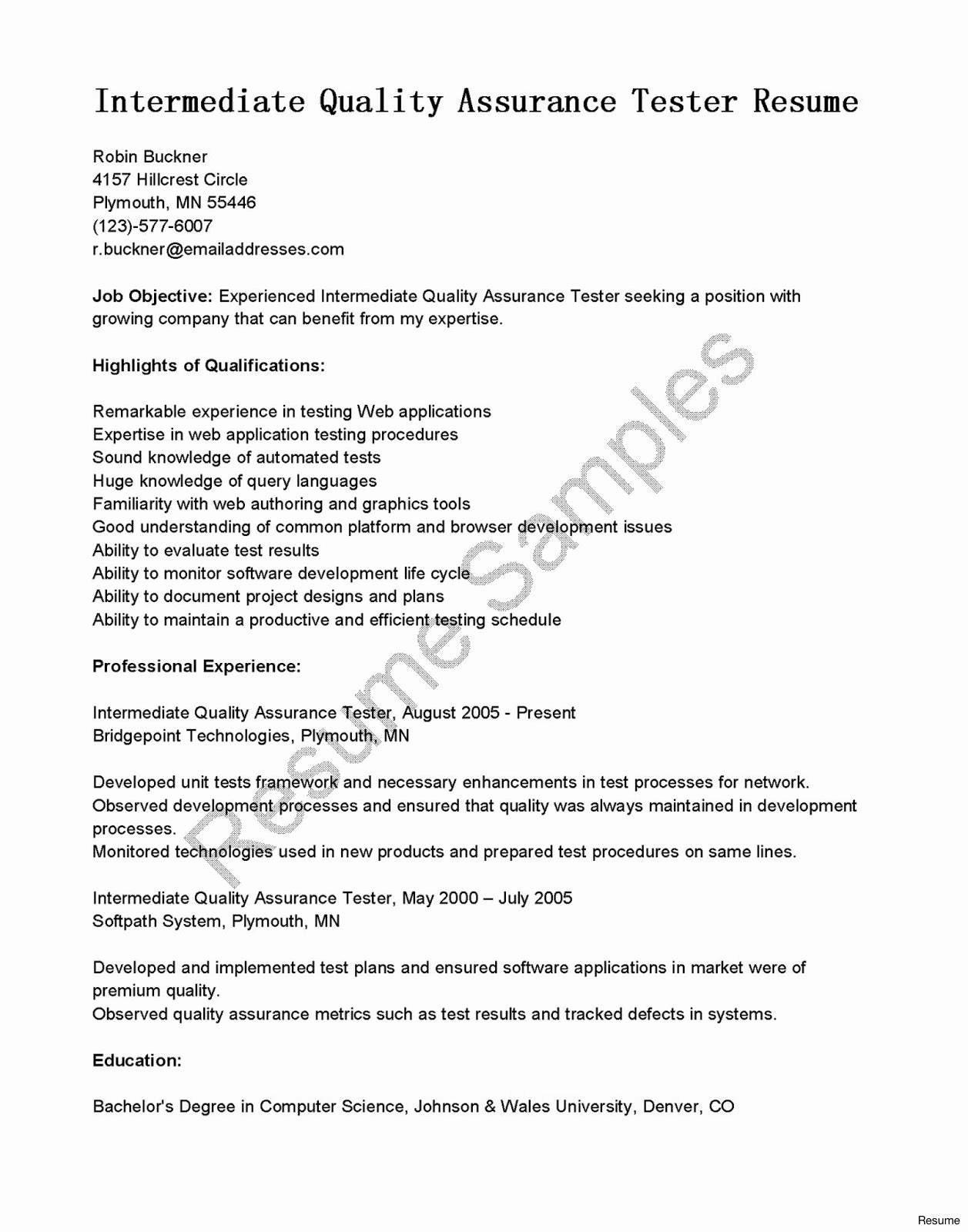 Luxury Sample Manual Testing Resume Eviosoft