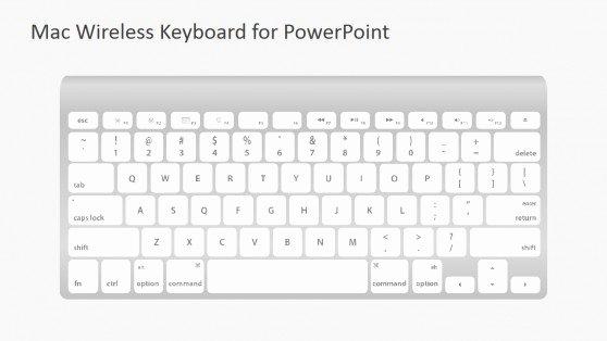 Mac Wireless Keyboard Shapes for Powerpoint Slidemodel