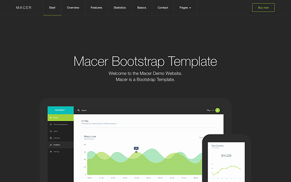 Macer App Landing Page Template