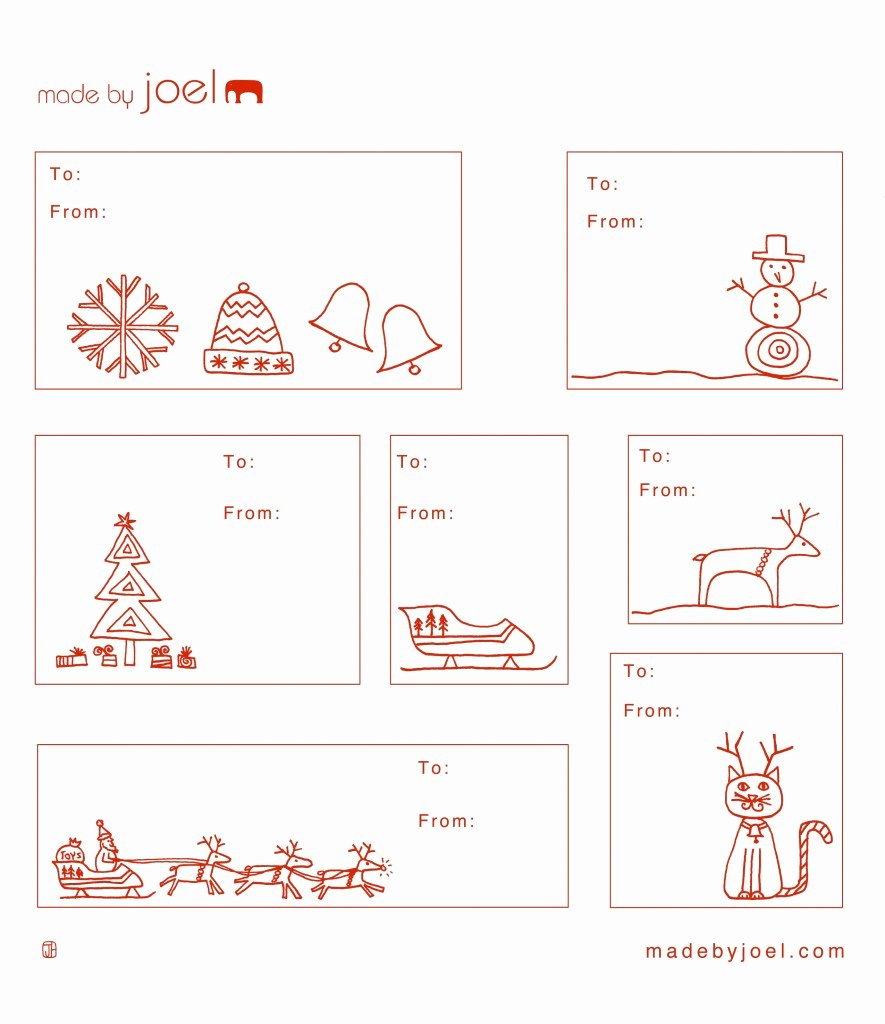 Made by Joel Holiday Gift Tag Templates