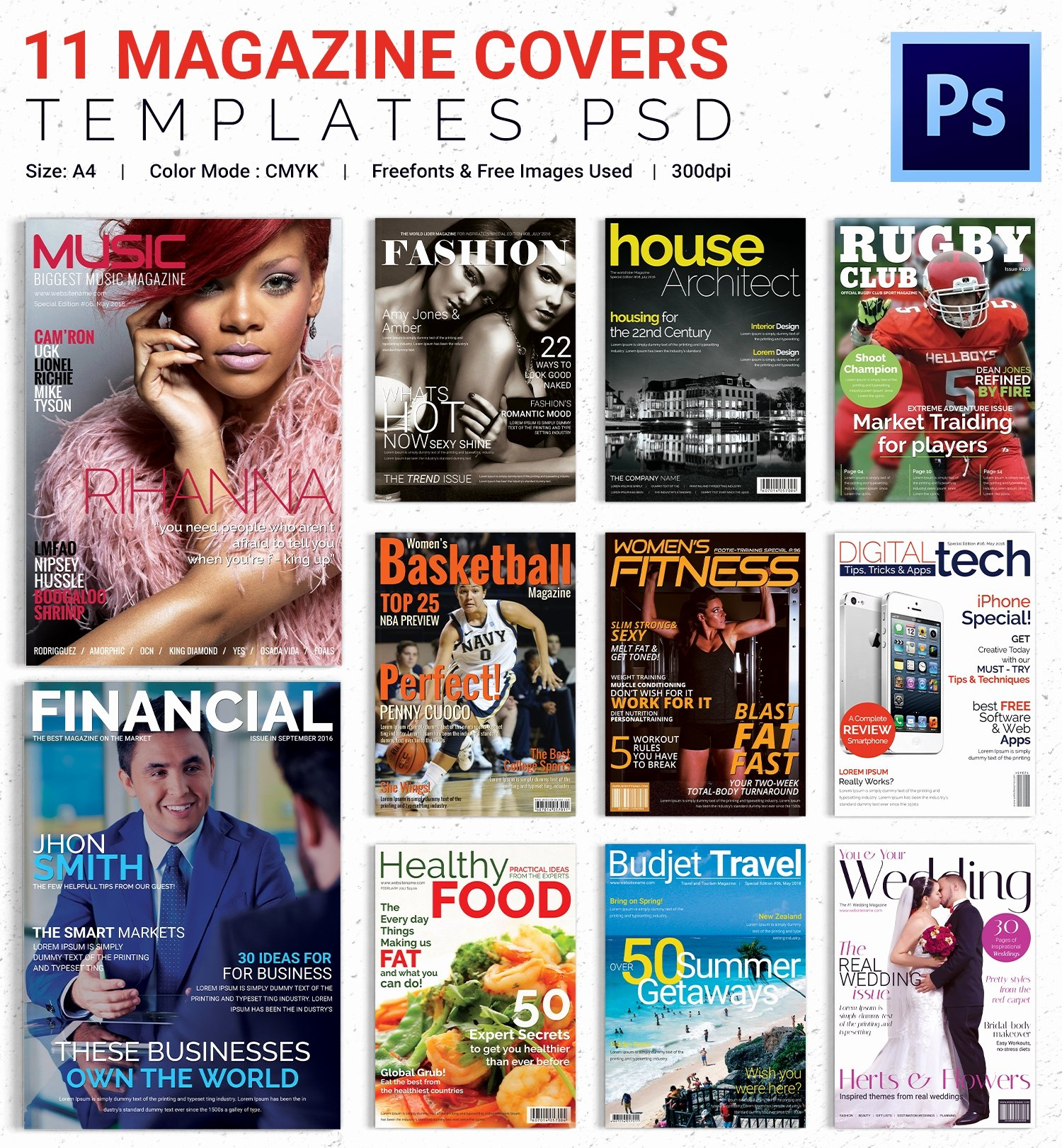 Magazine Cover Psd Template – 31 Free Psd Ai Vector Eps