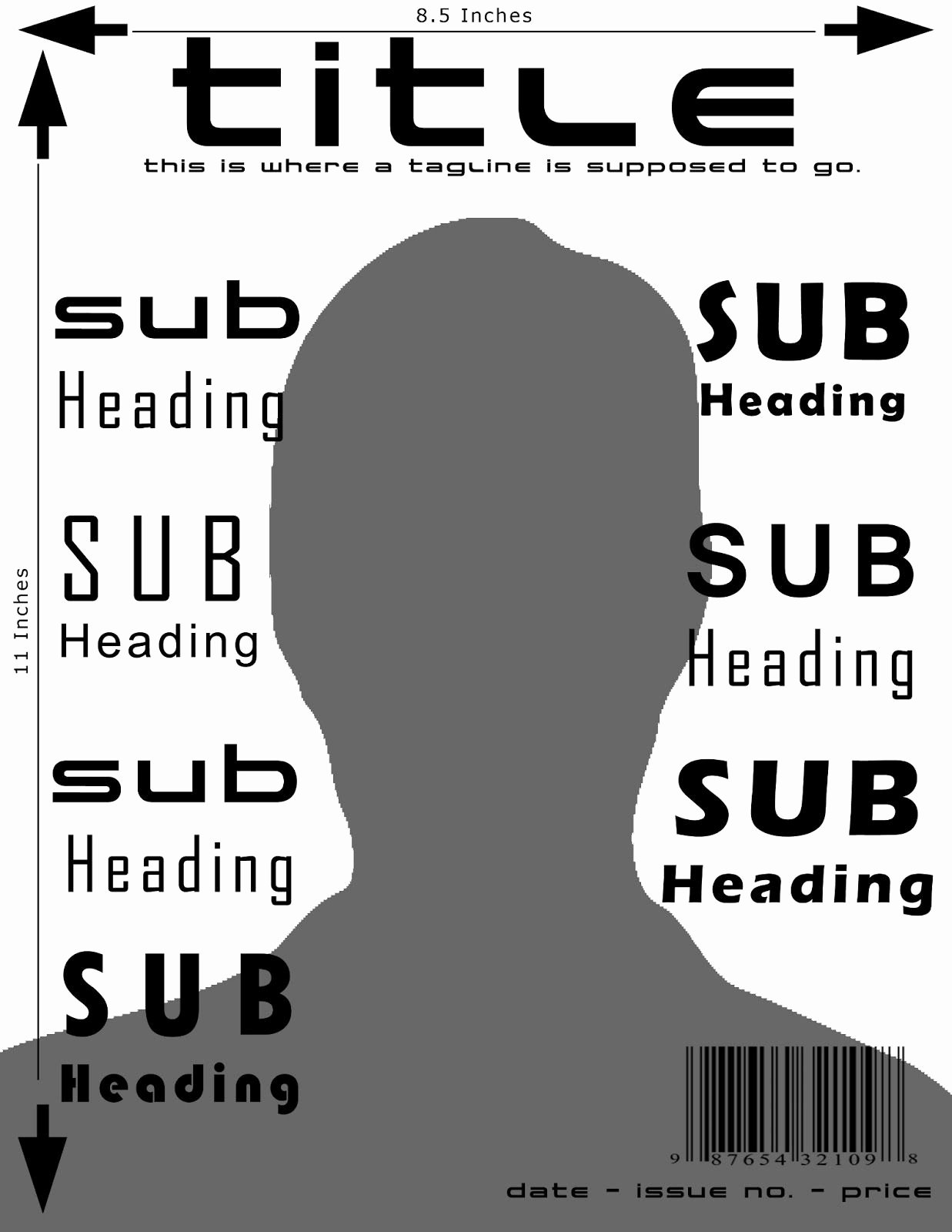 Magazine Cover Template and Dimensions
