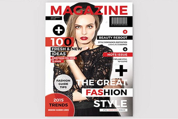 Magazine Cover Template Magazine Templates On Creative
