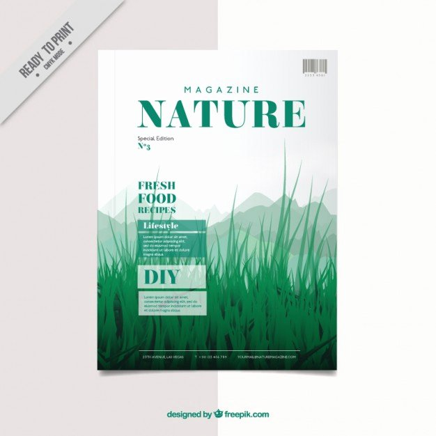 Magazine Cover Template Vector