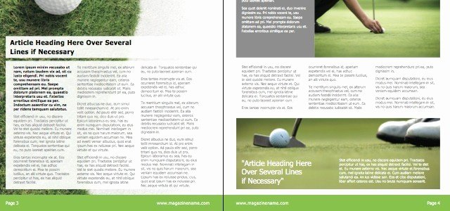 Magazine Golf • istudio Publisher • Page Layout software