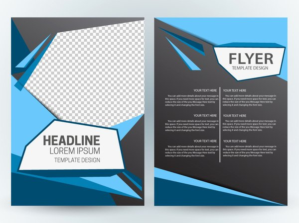 Magazine Layout Design Template Free Vector