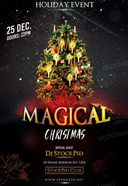 Magical Christmas Free Flyer Template Download Free