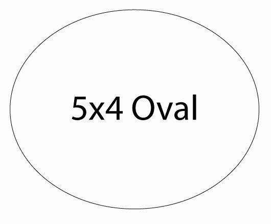 Magnet Oval Shape 5x4 25 Mil