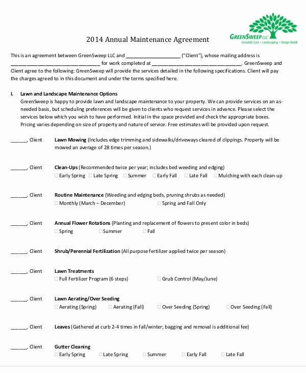 Maintenance Agreement Templates 8 Free Word Pdf format