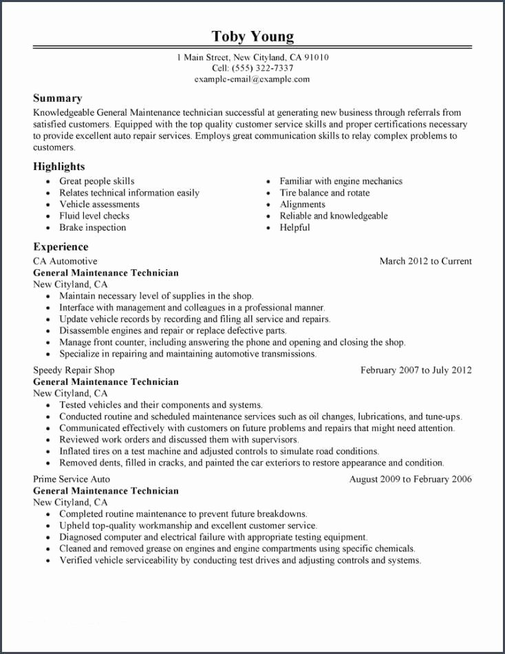 Maintenance Resume Examples and Best Facility Lead
