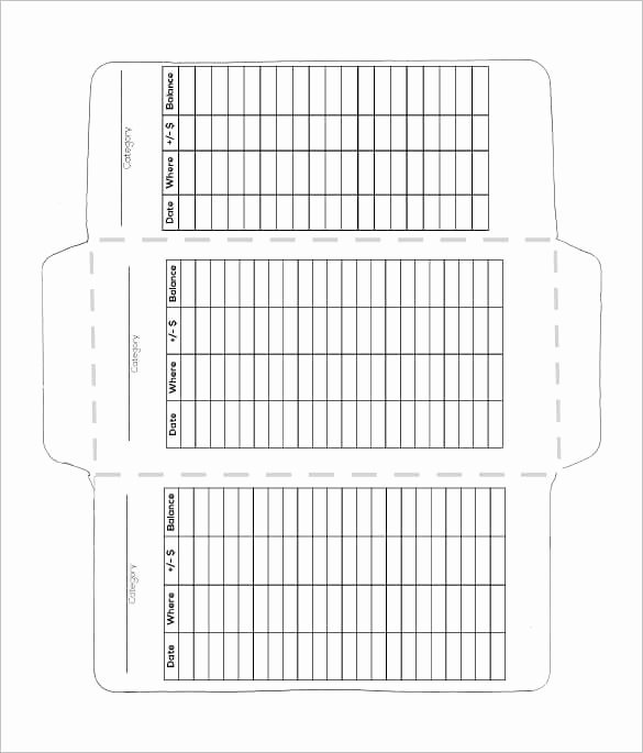 Make A Cash Envelope System Wallet Printable Template