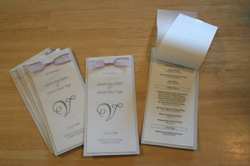Make A Modern and Crafty Wedding Program Booklet