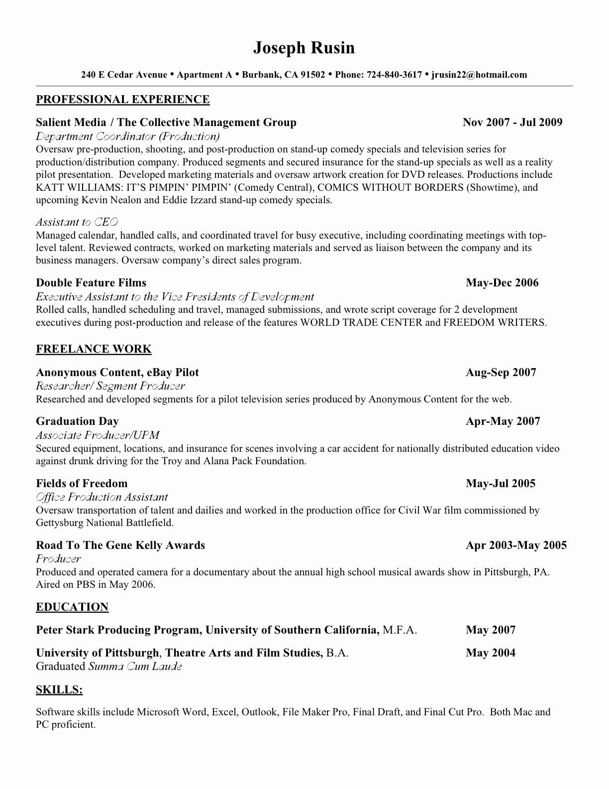 Make A Resume for Free Line