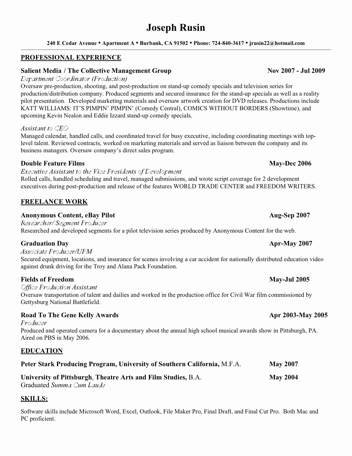 Make A Resume for Free Line