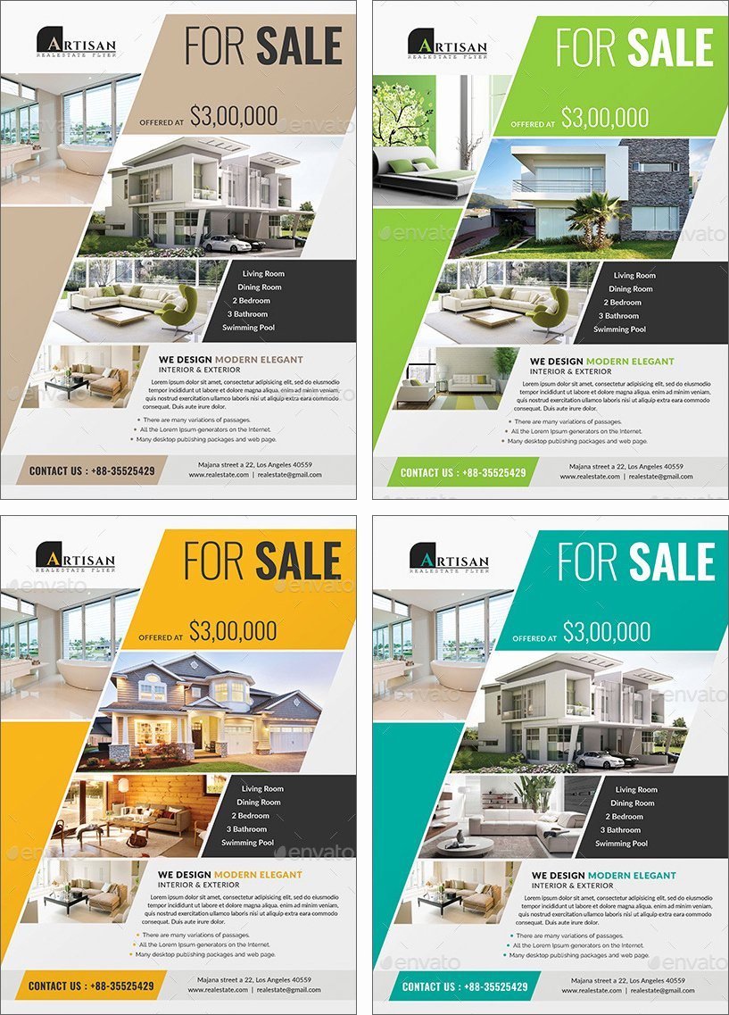 Make An Impression with these Beautiful Real Estate Flyer