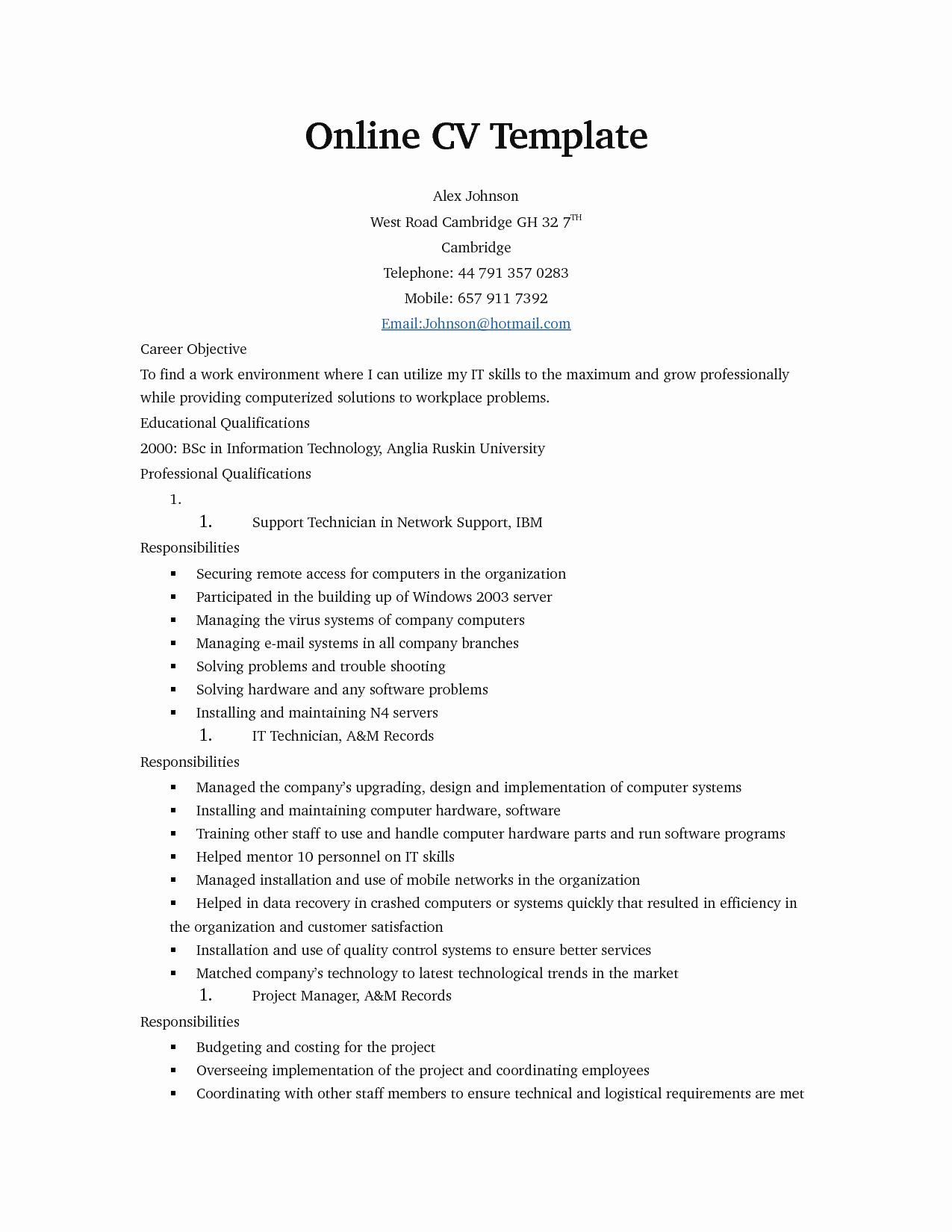 Make Free Resume Line