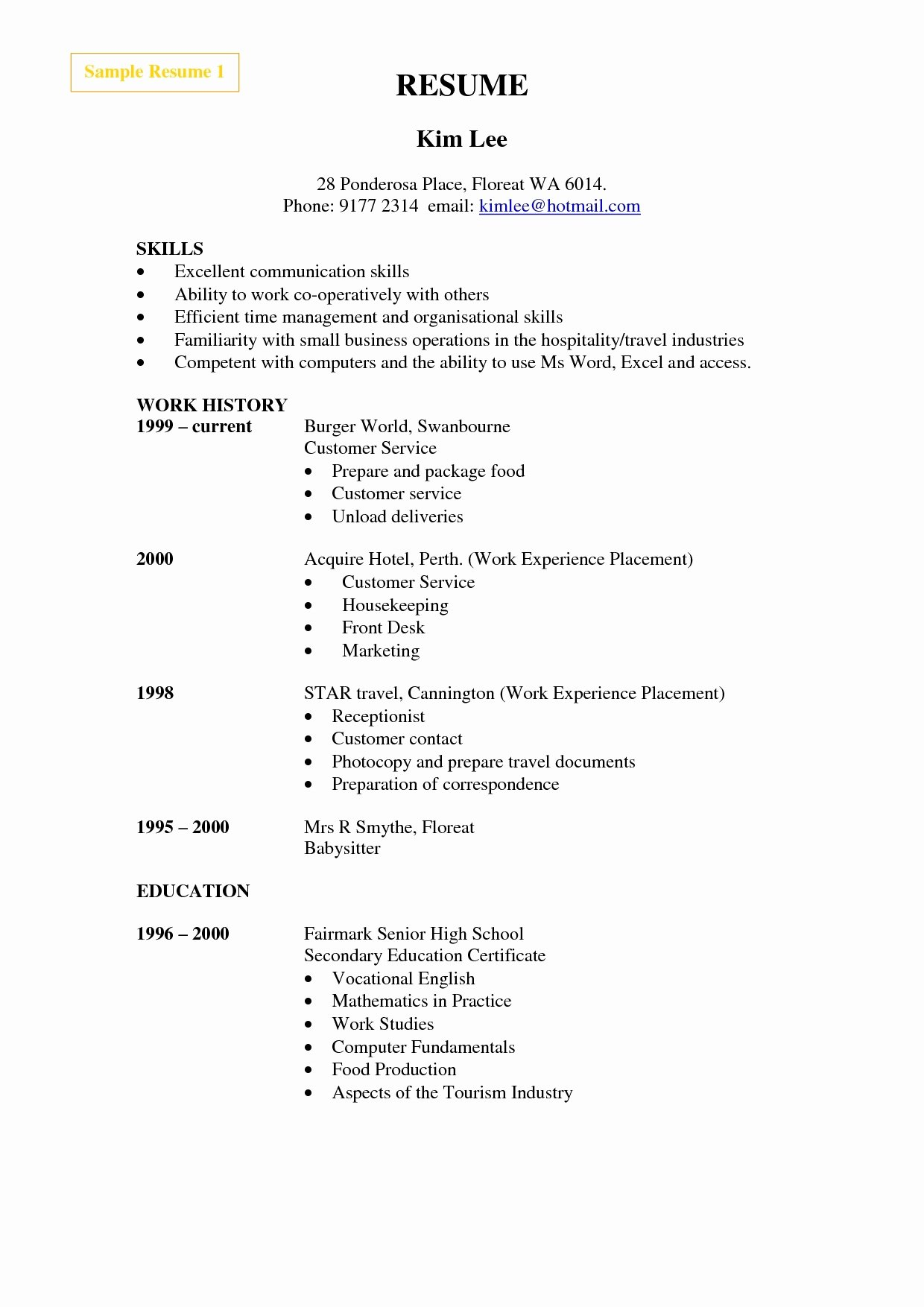 Make Me A Resume for Free