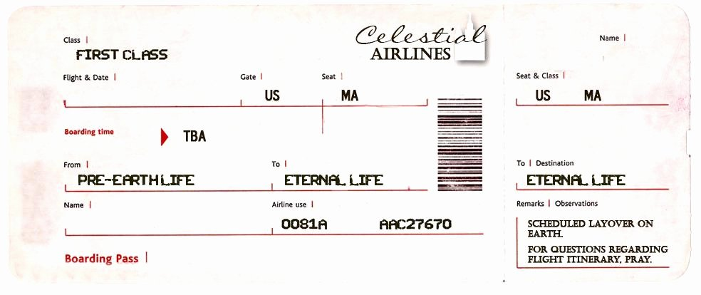 Make Your Own Fake Boarding Pass Plane Ticket F – Nnarg