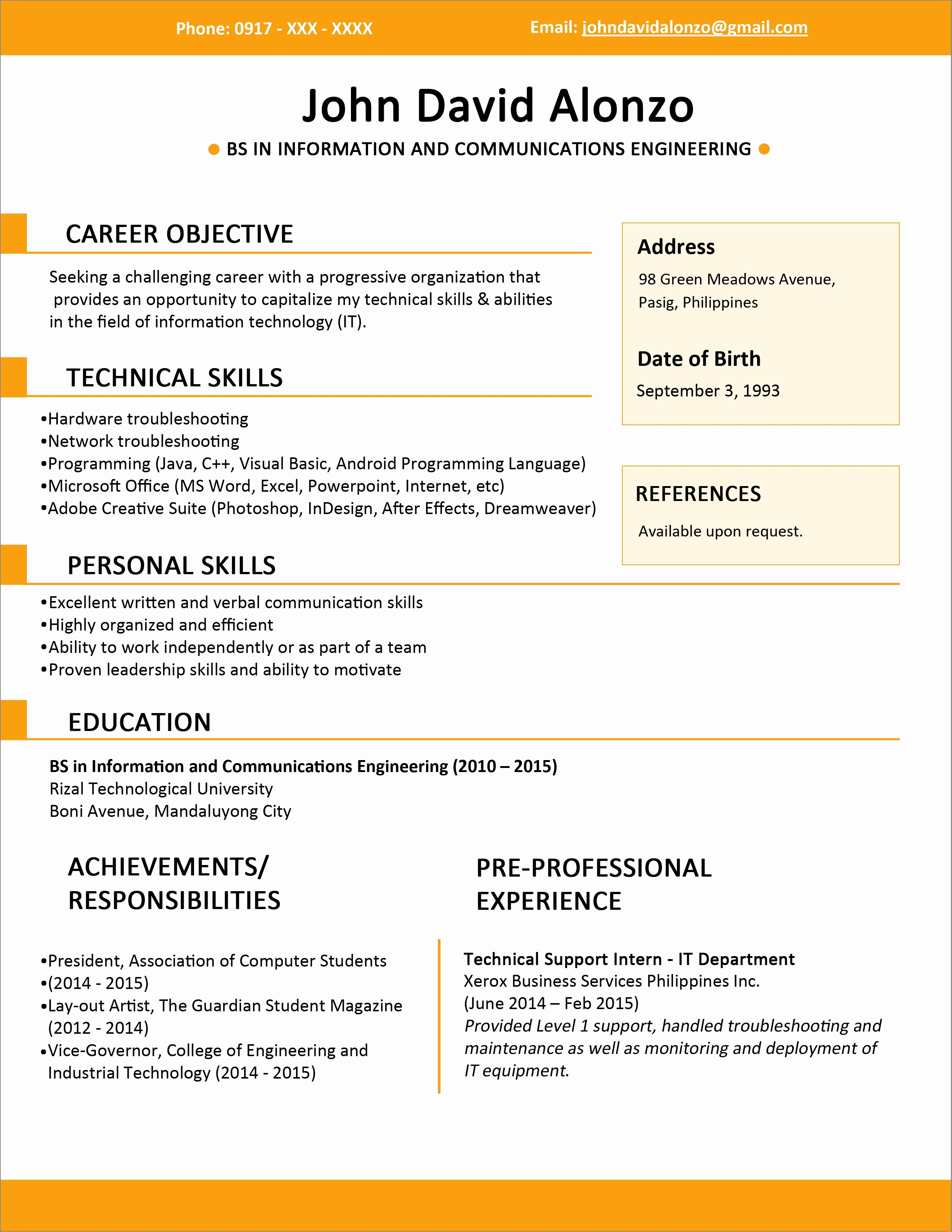 Make Your Resume Line for Free Resume Ideas