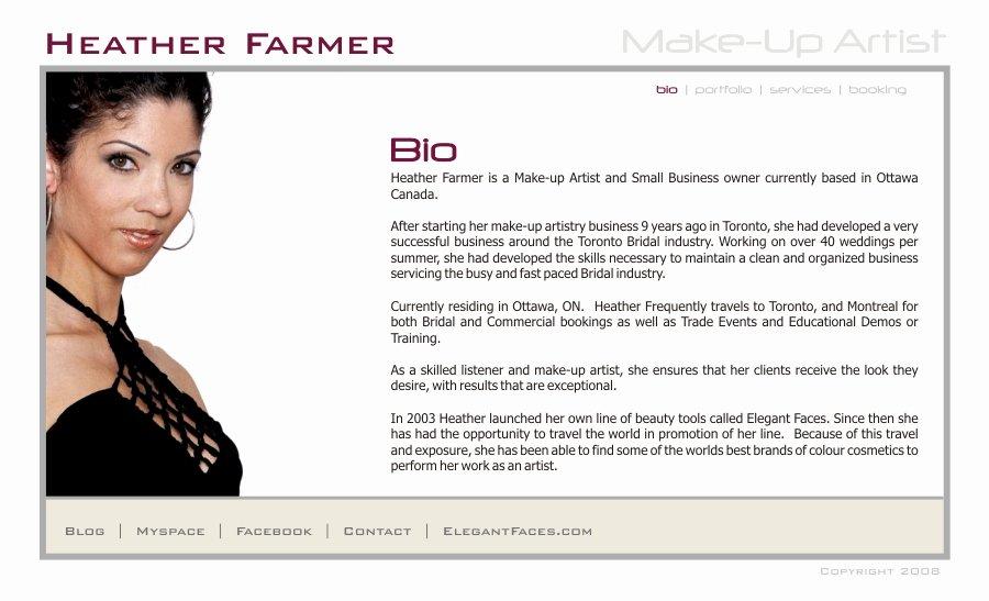 Makeup Artist Bio Template Makeup Vidalondon