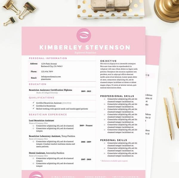Makeup Artist Resume Cover Letter & Reference Template