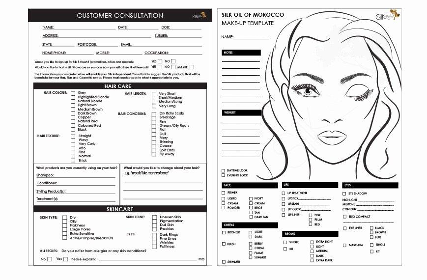 Makeup Consultation form Template Mugeek Vidalondon