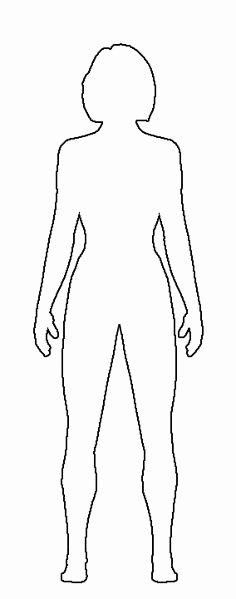 Male Body Template for Fashion Design