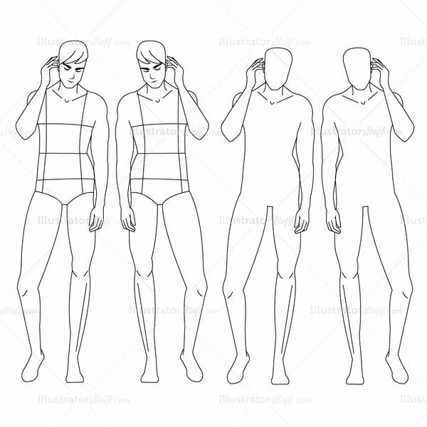 Male Fashion Croquis Template – Illustrator Stuff