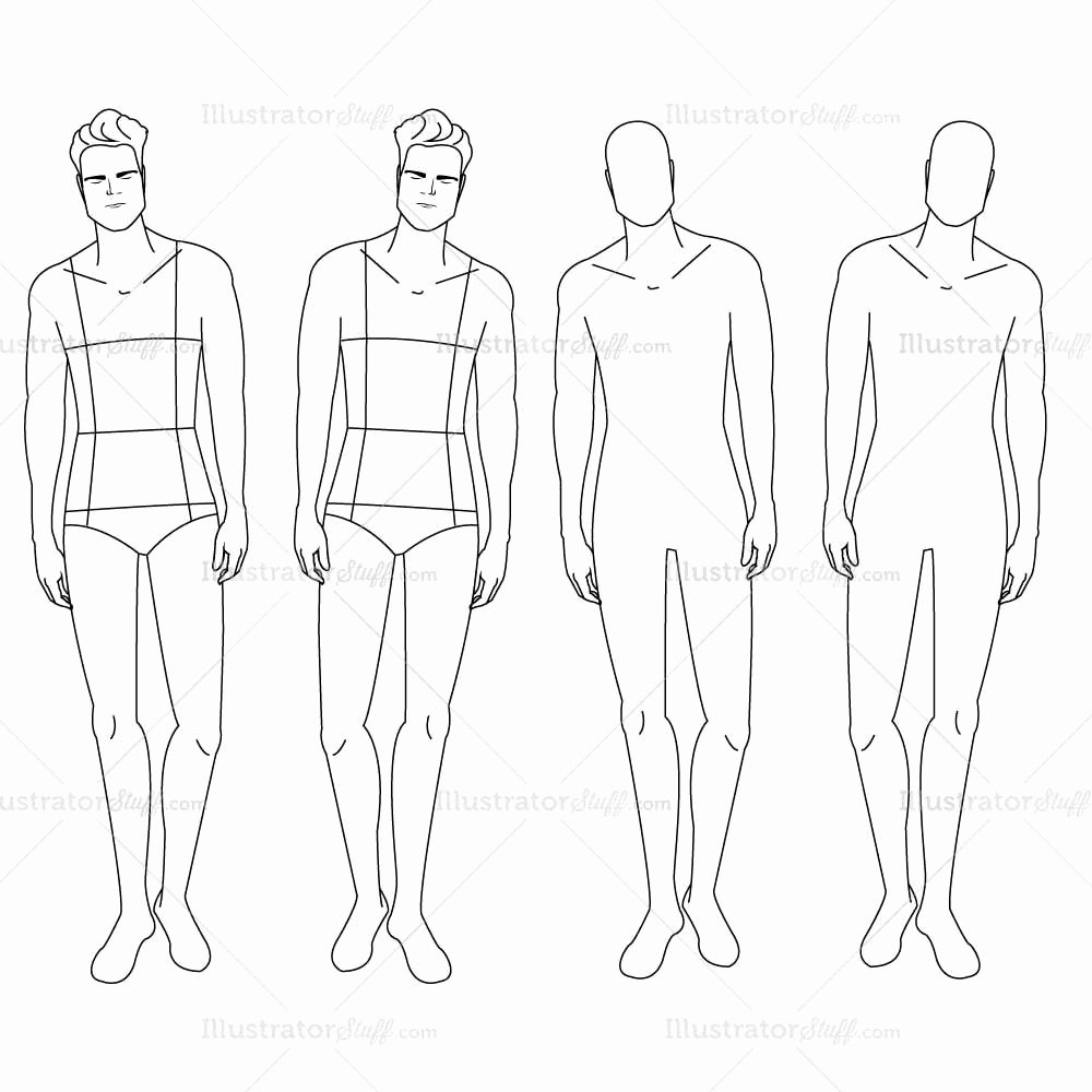 Male Fashion Croquis Template – Templates for Fashion