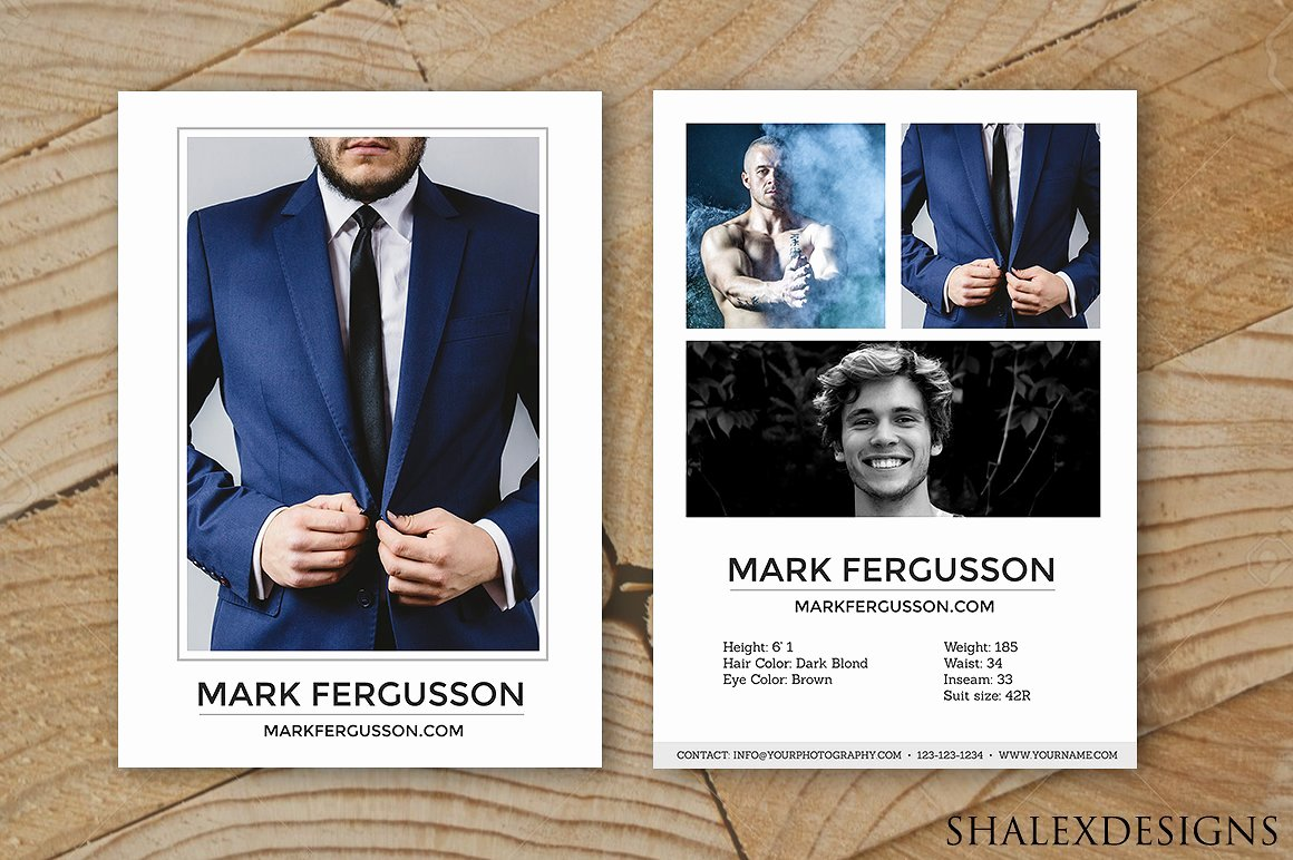 Male Modeling P Card Template Card Templates