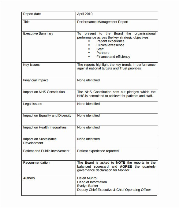 Management Report Templates 32 Word Pdf Apple Pages