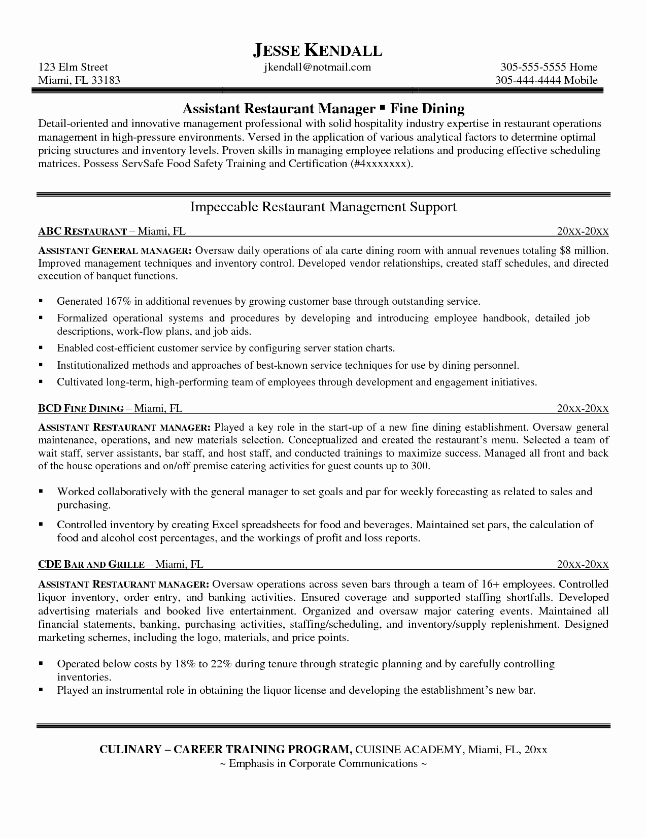 Manager Resume Bullet Points Sidemcicek