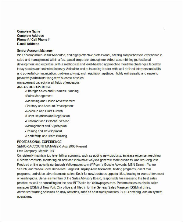 manager resume sample template