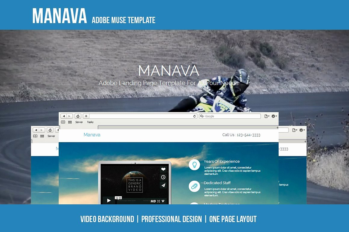 Manava Adobe Muse Template Website Templates