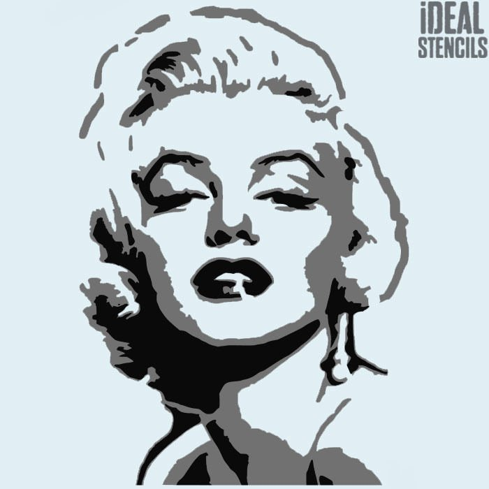 Marilyn Monroe Multi Layer Stencil Art Home Decor Reusable