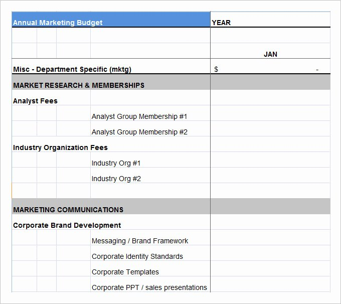 Marketing Bud Template 22 Free Word Excel Pdf