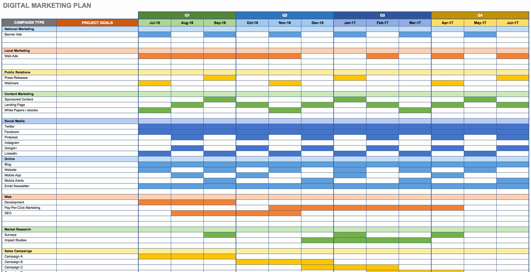 Marketing Calendar Excel