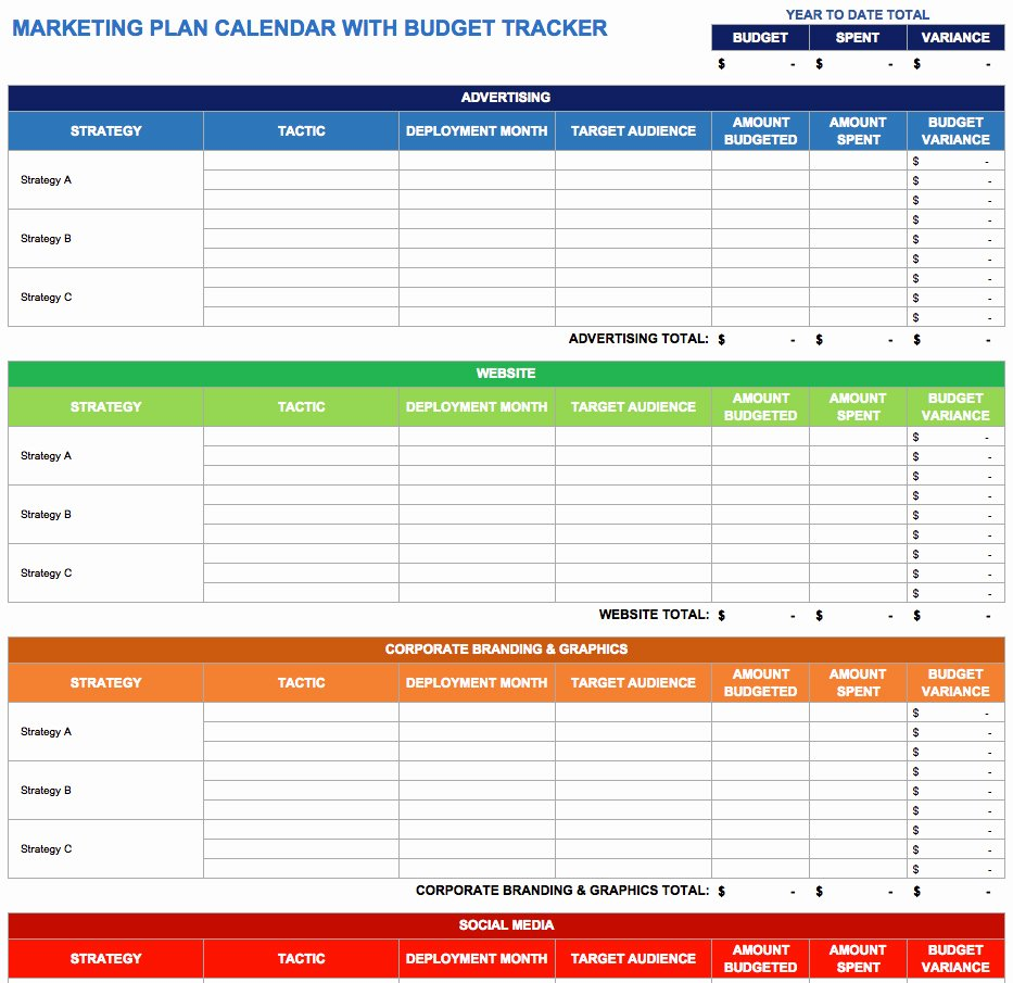 Marketing Campaign Schedule Template