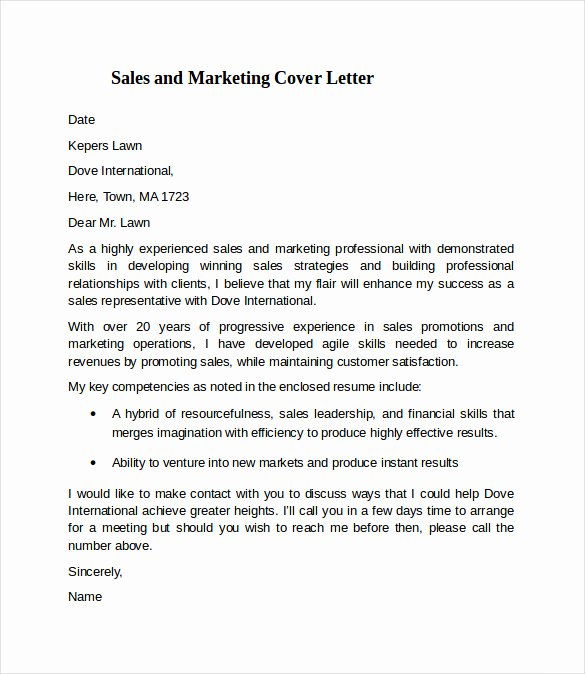 Marketing Cover Letter Sample Marketing Specialist Cover